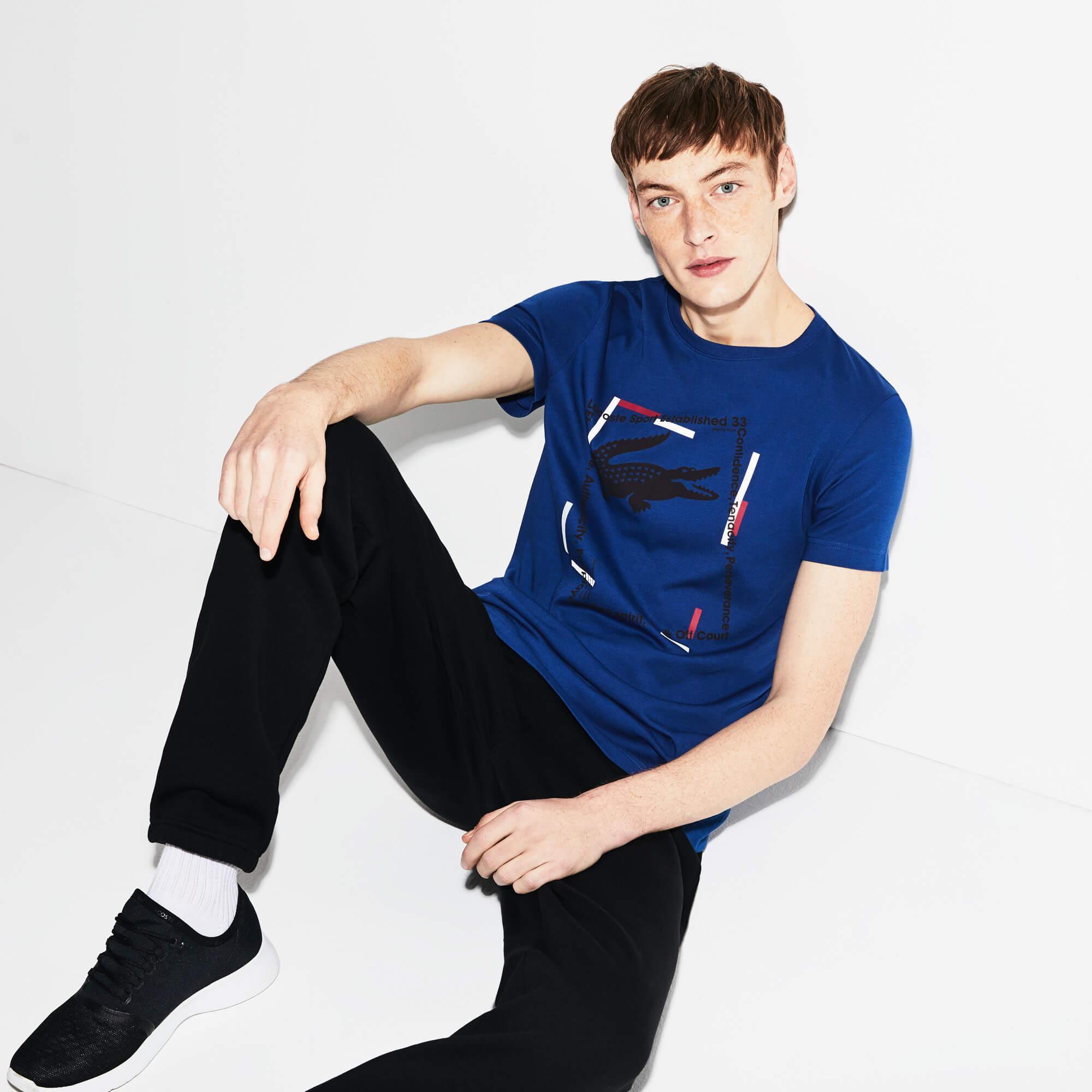 Lacoste Erkek Spor Mavi T-Shirt
