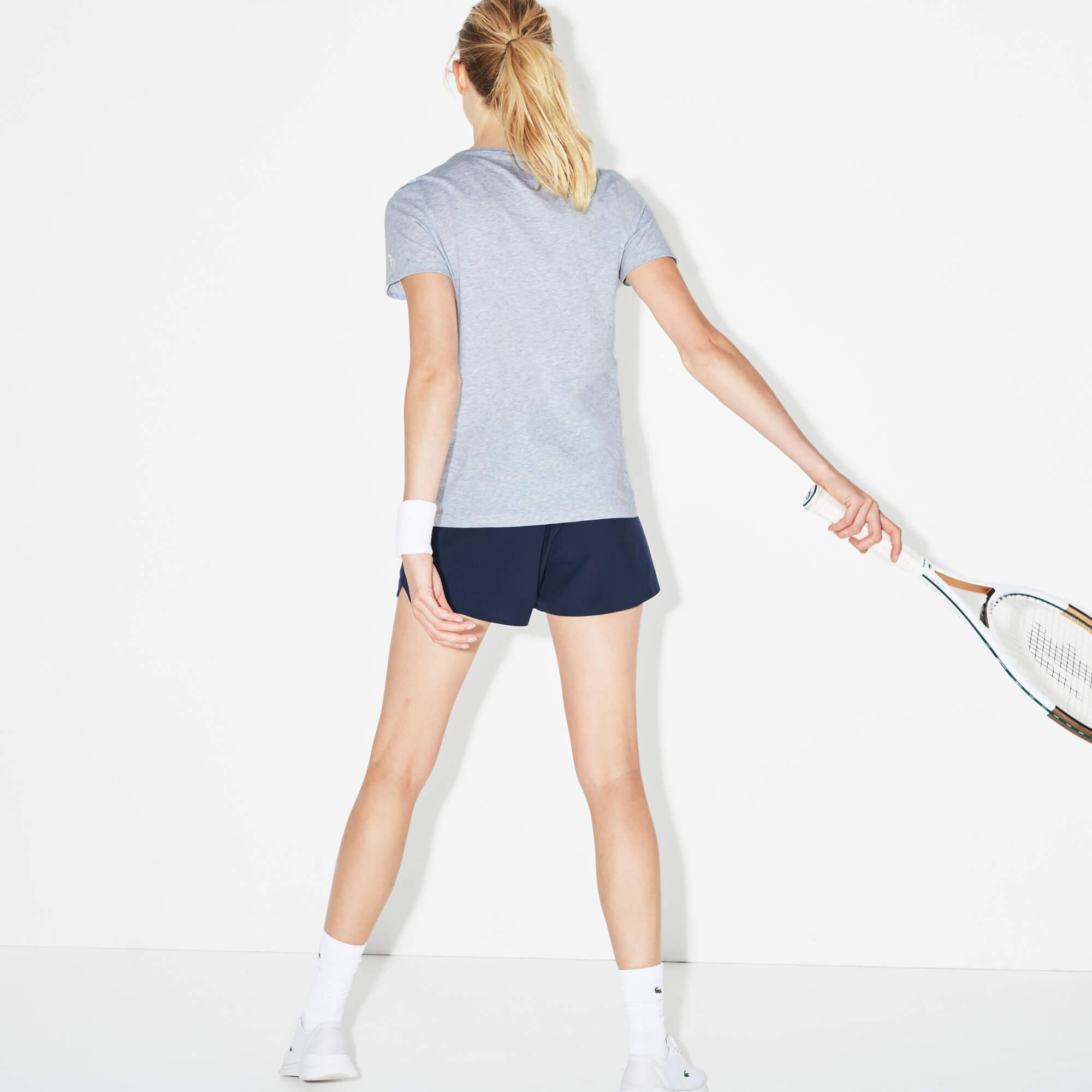 Lacoste Kadın Novak Djokovic Gri T-Shirt