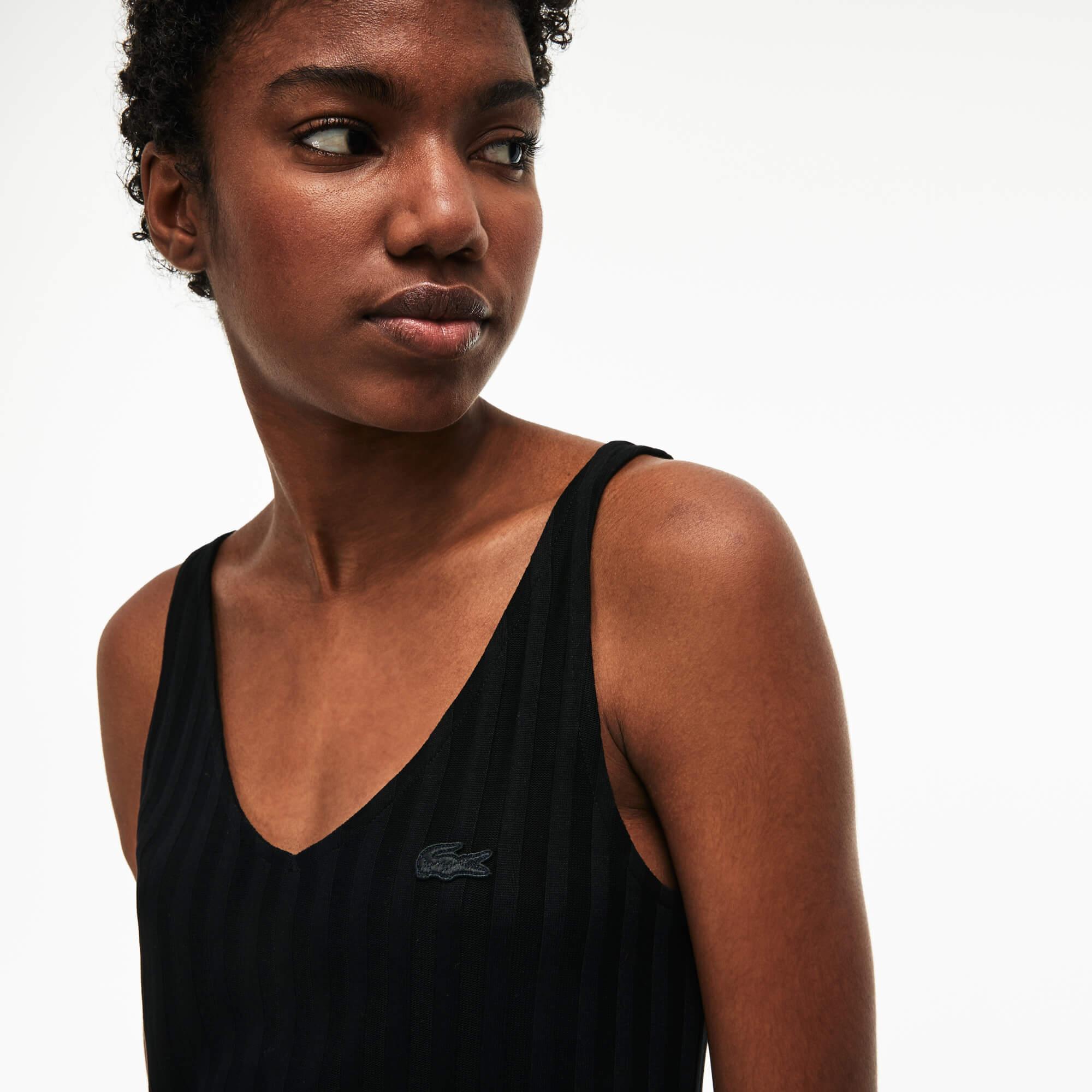 Lacoste Kadın Askılı Siyah Bluz