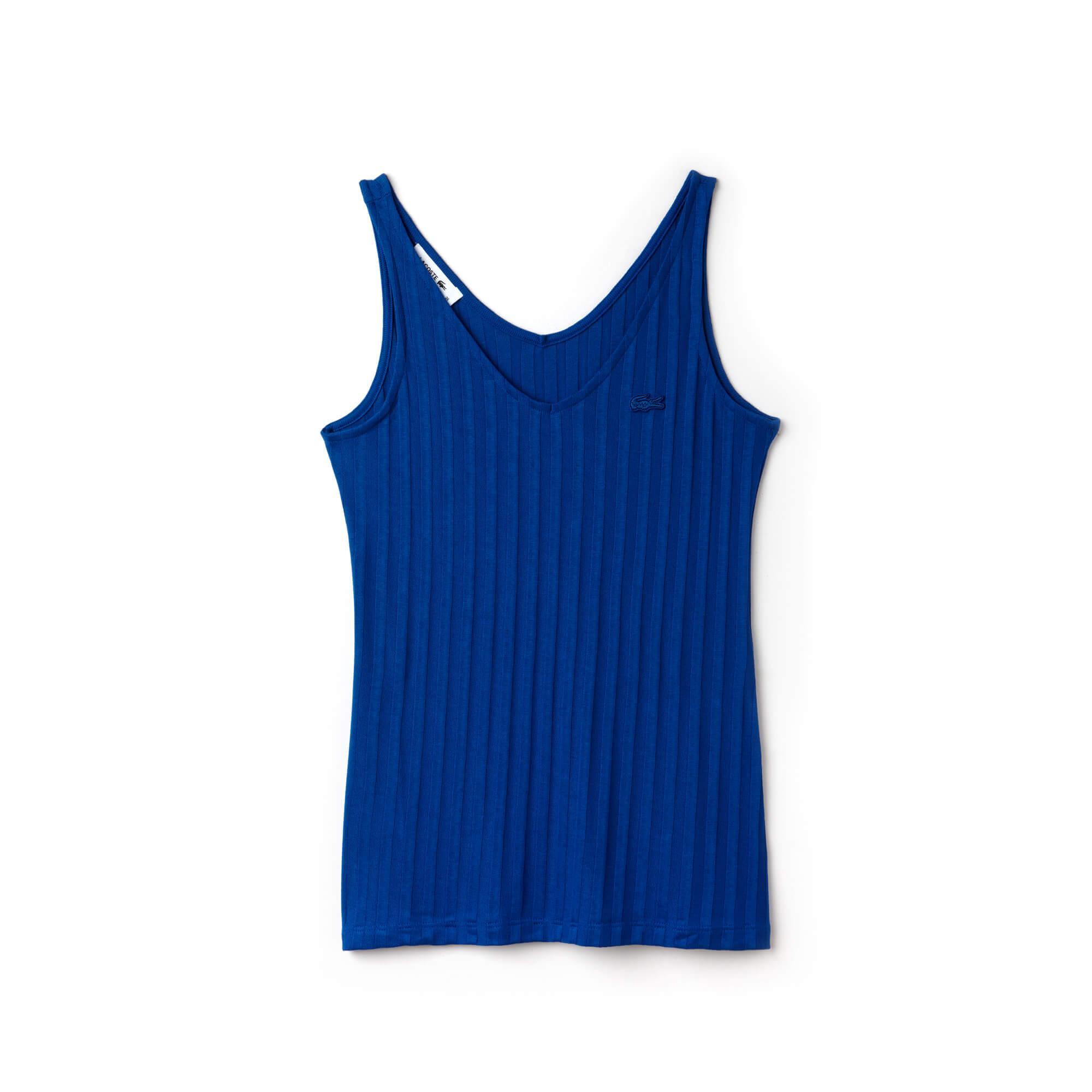 Lacoste Kadın Askılı Mavi T-Shirt