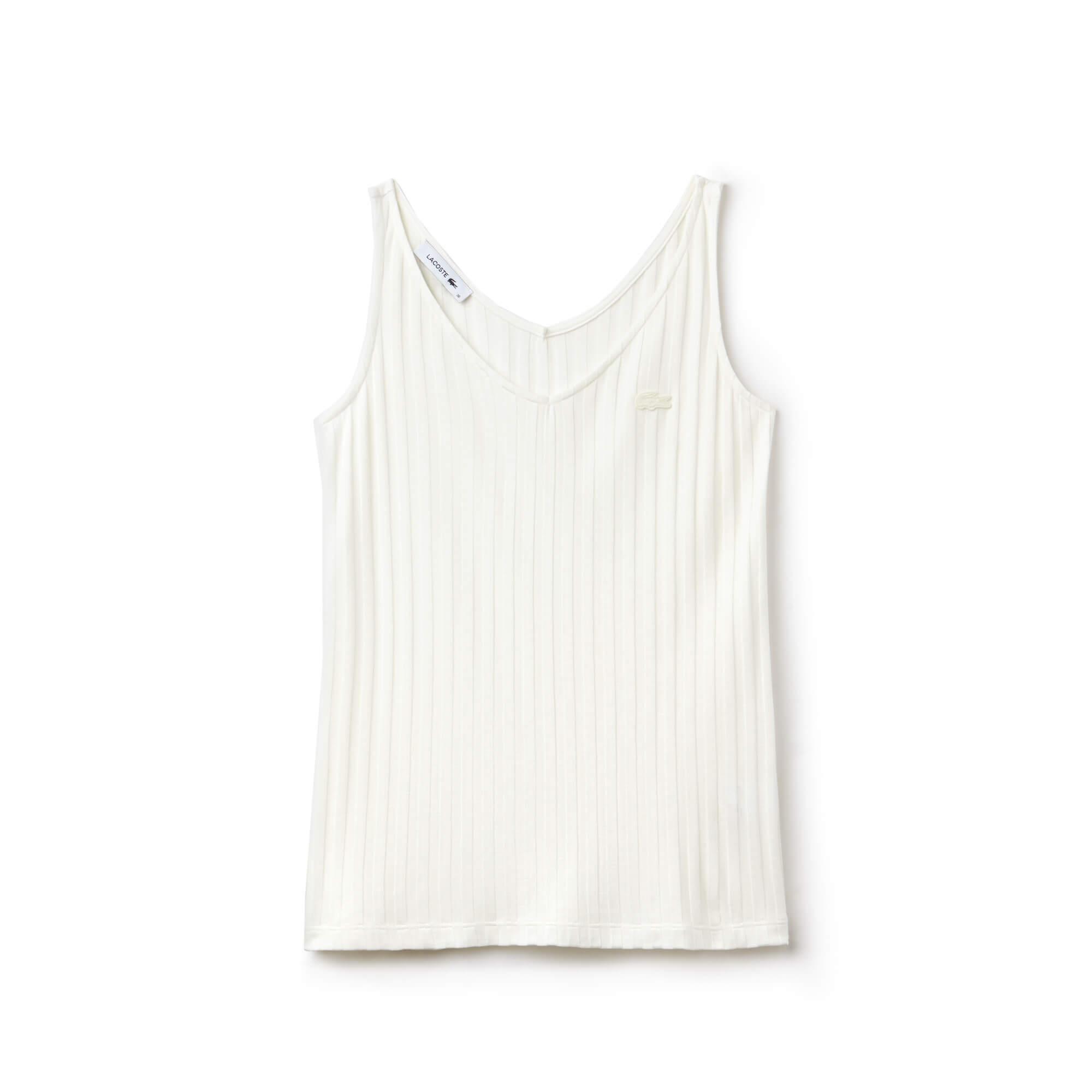 Lacoste Kadın Askılı Bej Bluz