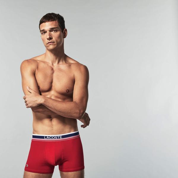 Lacoste Erkek Mavi-Gri-Kırmızı Boxer