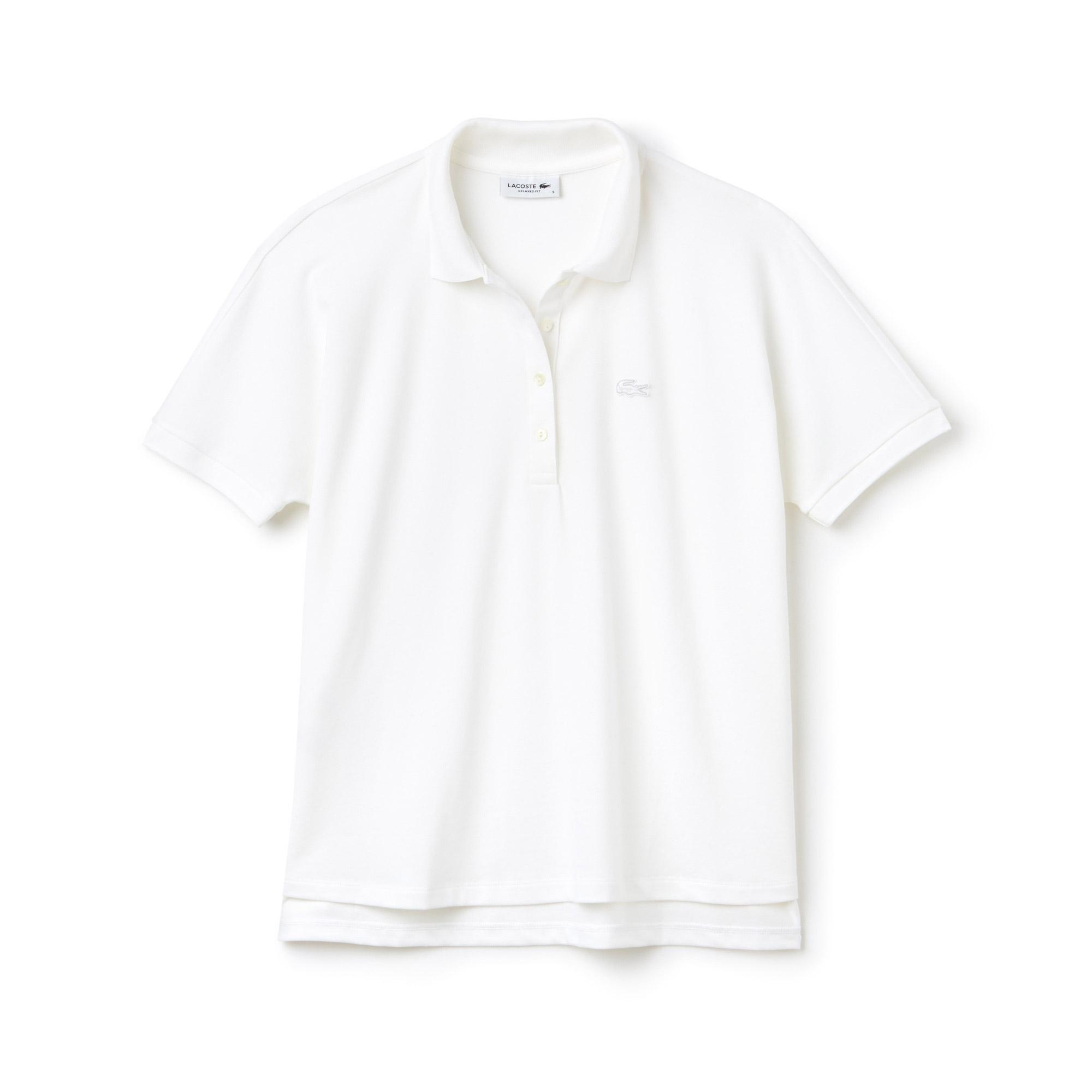 Lacoste Kadın Rahat Kesim Beyaz Polo
