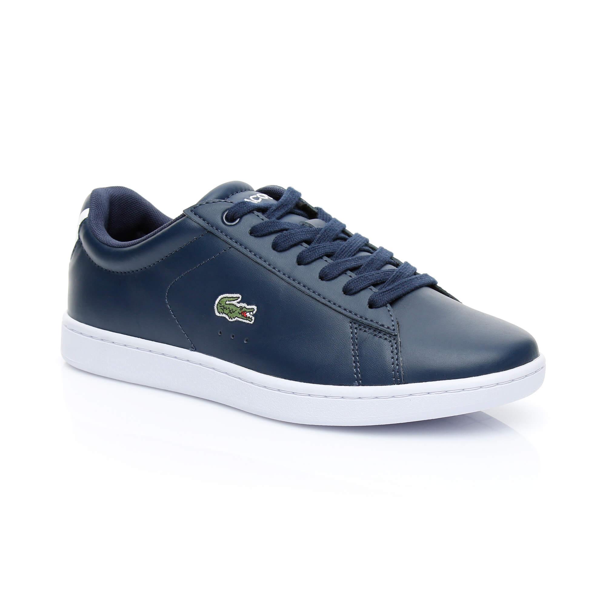 Lacoste Carnaby Evo Bl Kadın Lacivert Sneaker Ayakkabı