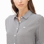 Lacoste Kadın Desenli Kahverengi Gömlek