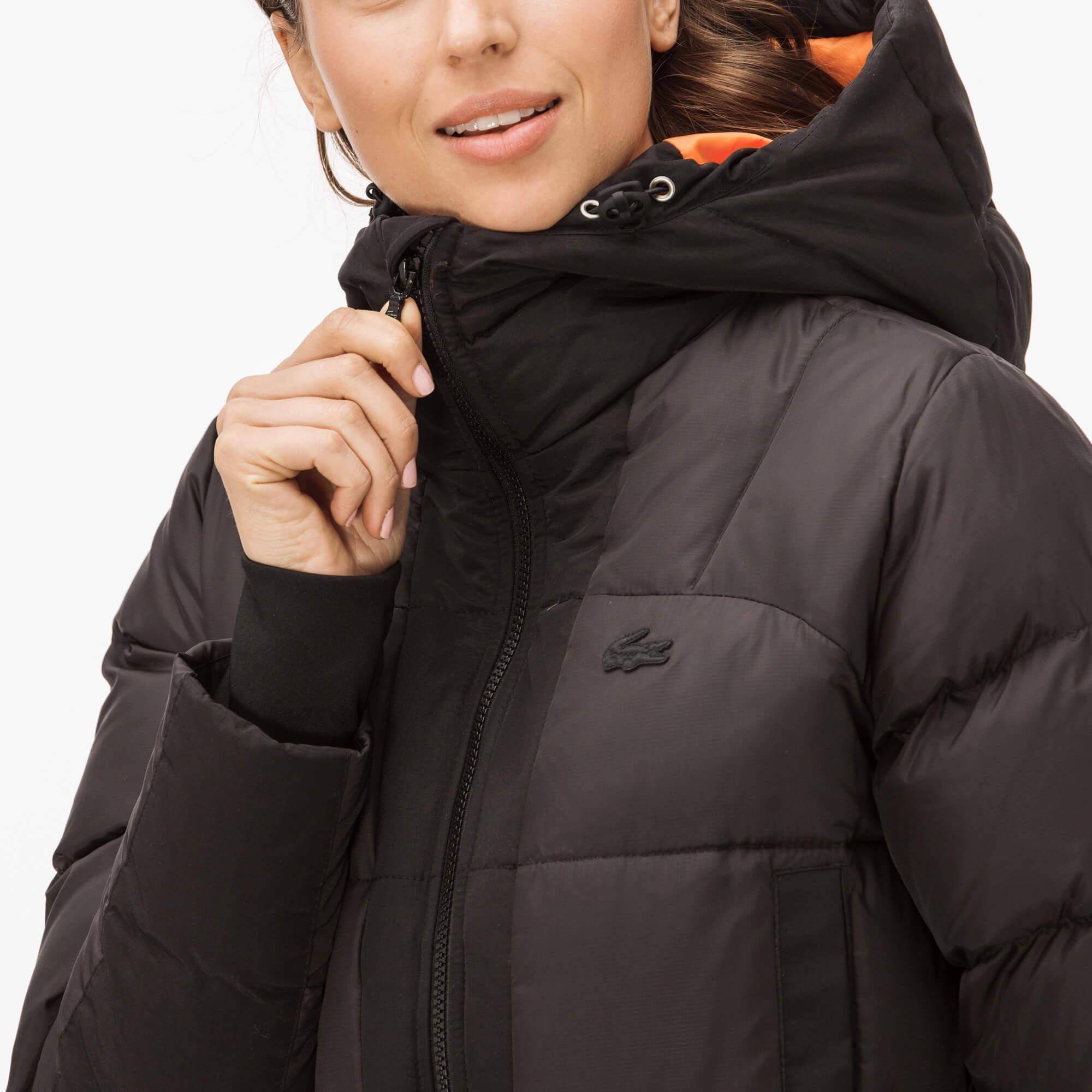 Lacoste Kadın Kaz Tüyü Siyah Mont
