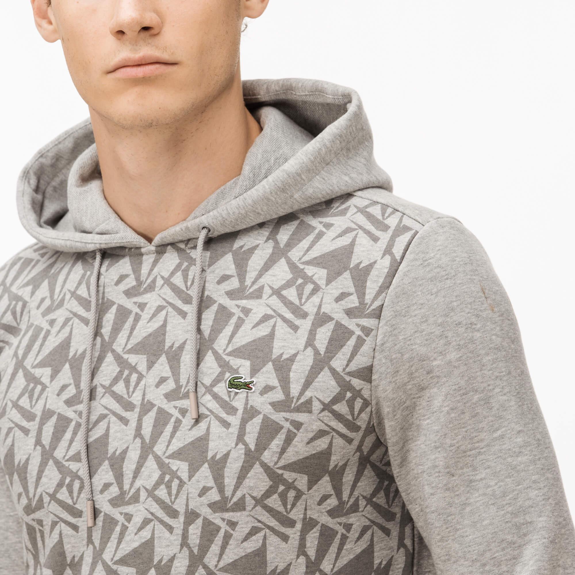 Lacoste Erkek Gri Kapüşonlu Sweatshirt