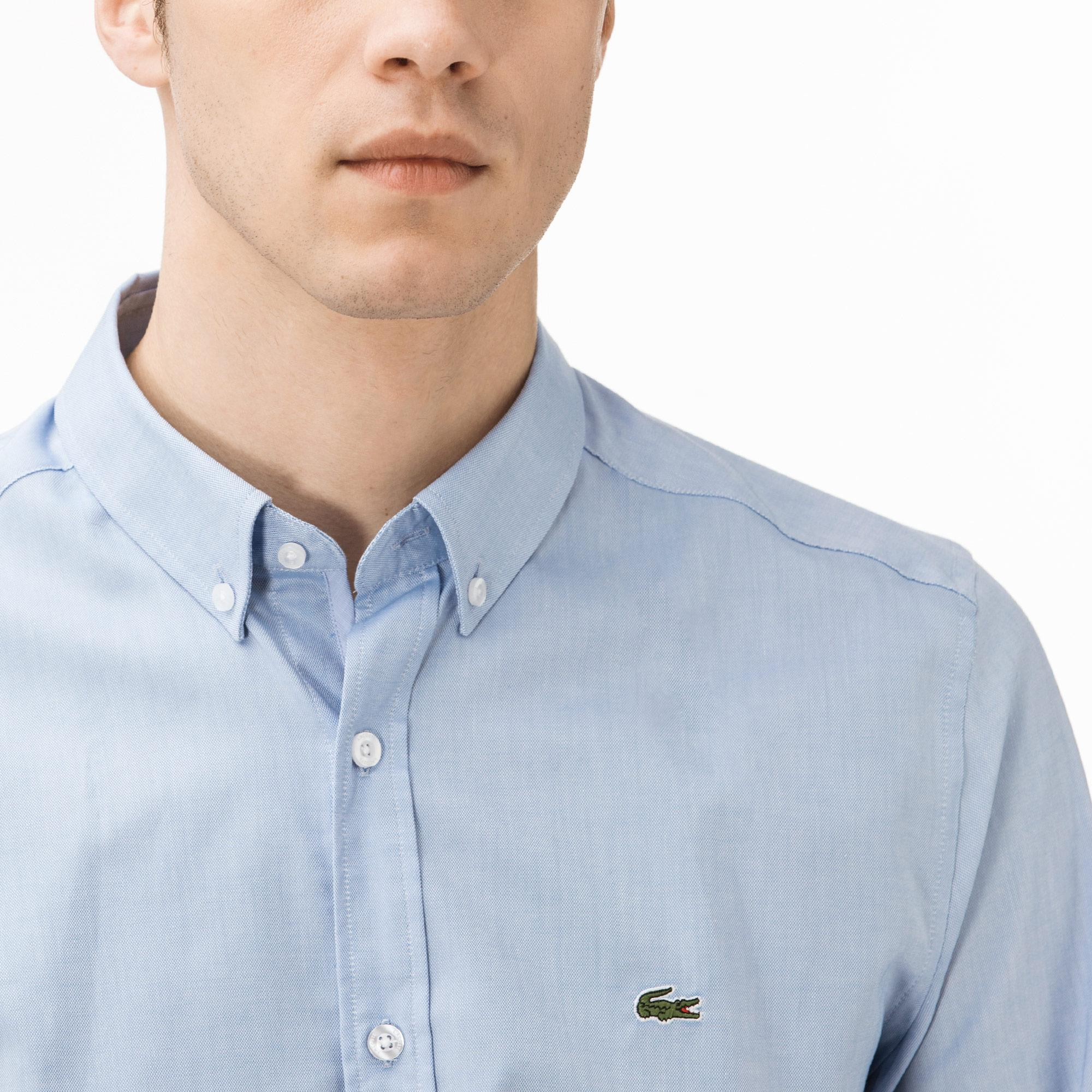 Lacoste Erkek Regular Fit Mavi Oxford Gömlek