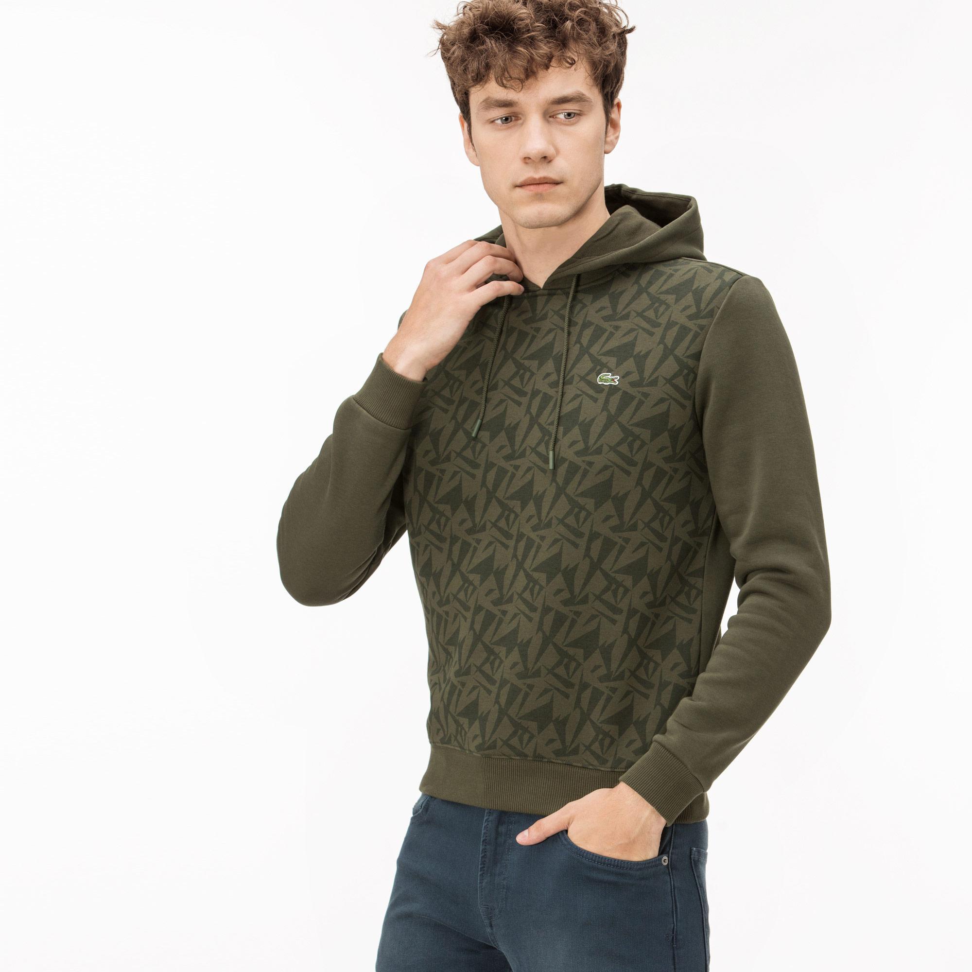 Lacoste Erkek Yeşil Kapüşonlu Sweatshirt