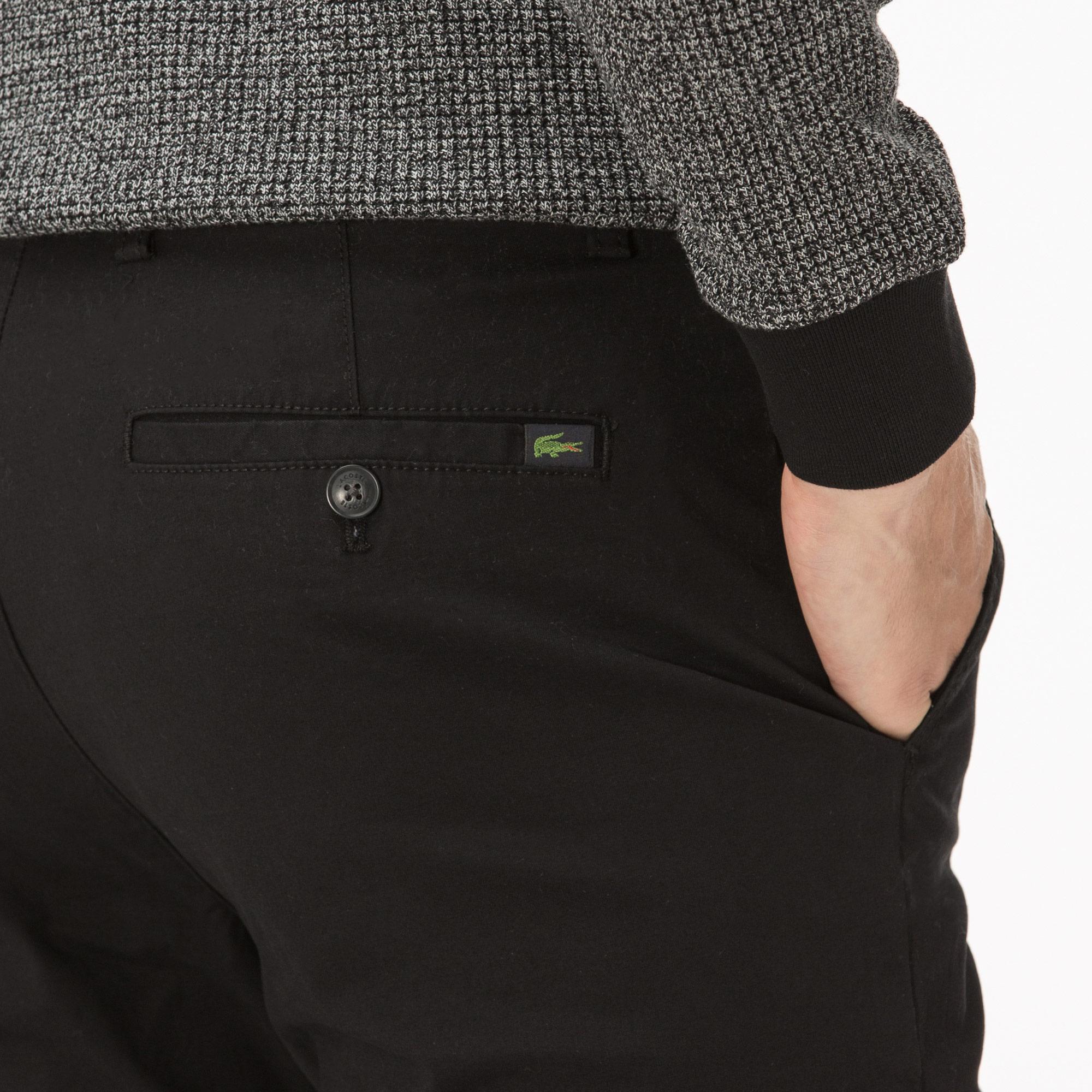 Lacoste Erkek Siyah Gabardin Pantolon