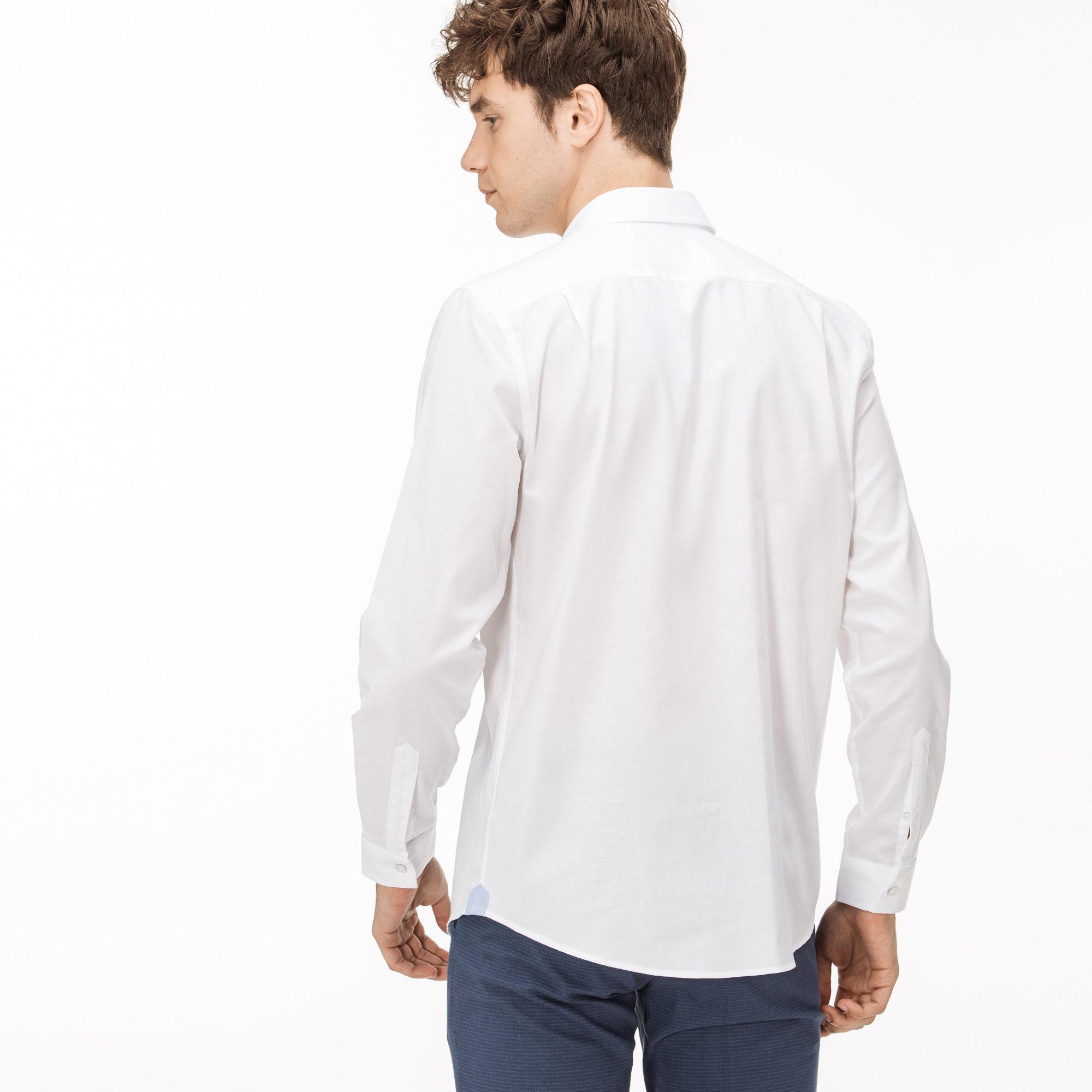 Lacoste Erkek Regular Fit Beyaz Oxford Gömlek