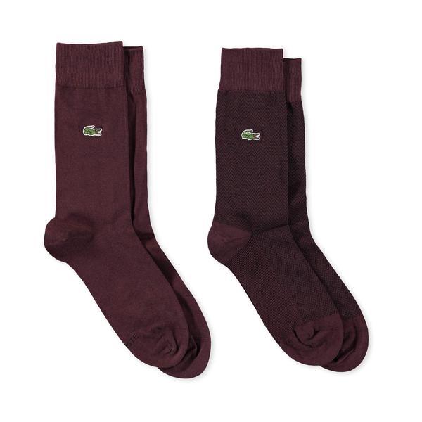 Lacoste Erkek Bordo Çorap