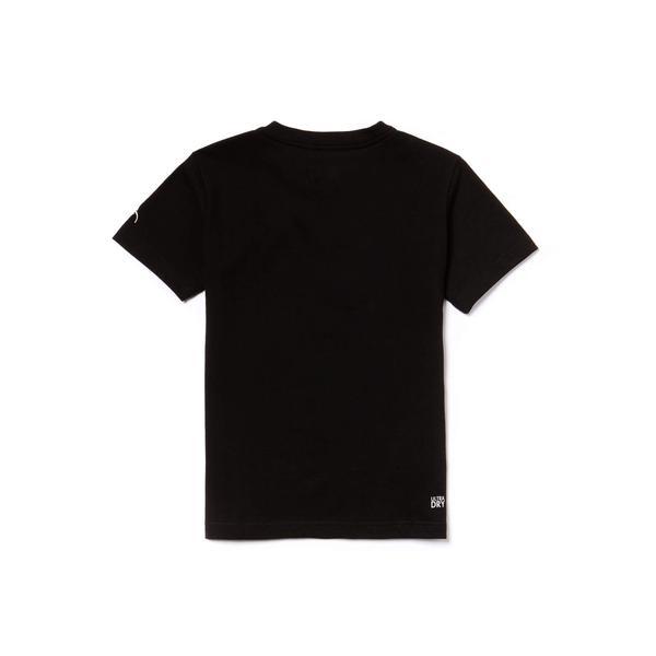 Lacoste Sport Çocuk Siyah T-Shirt