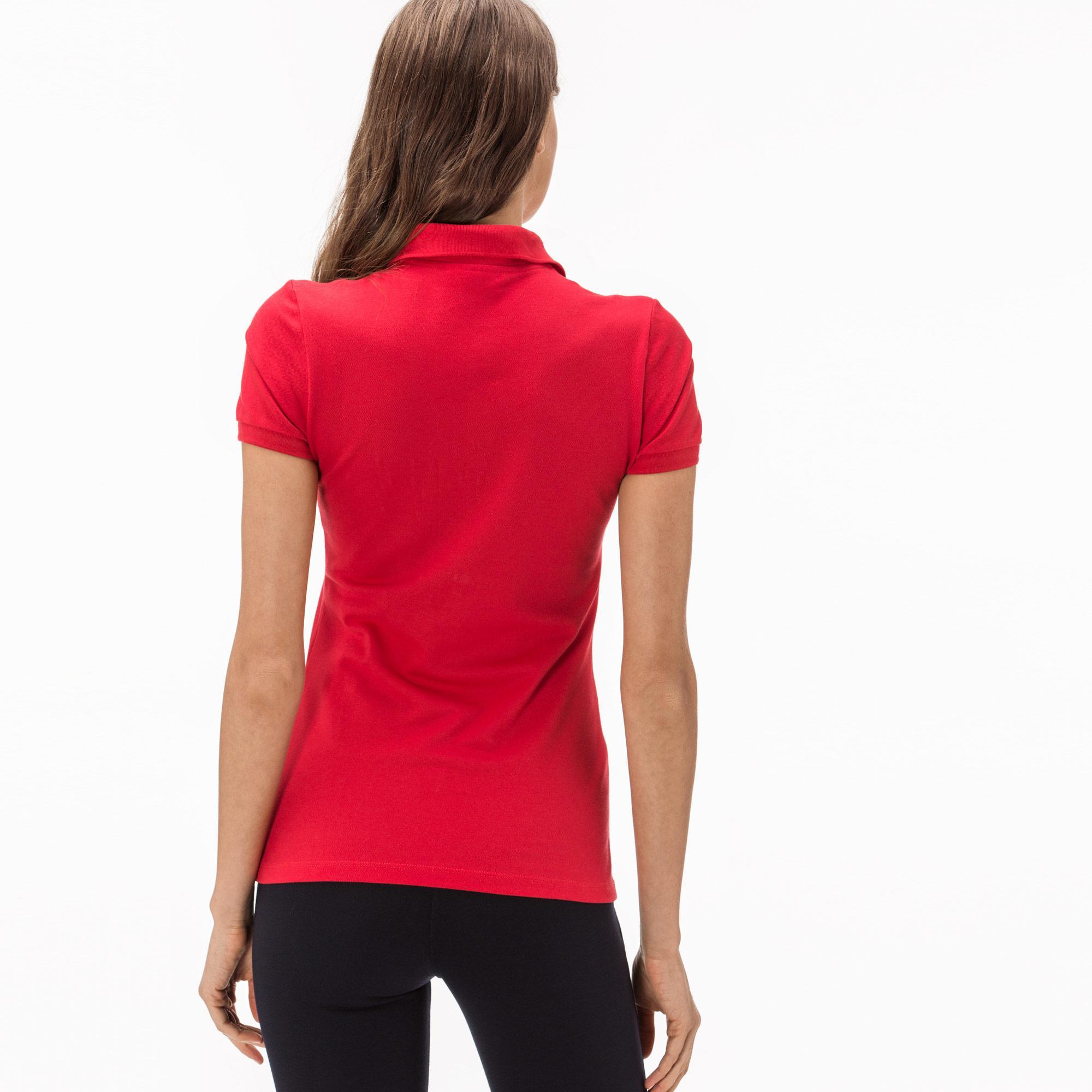 Lacoste Kadın Kırmızı Slim Fit Polo