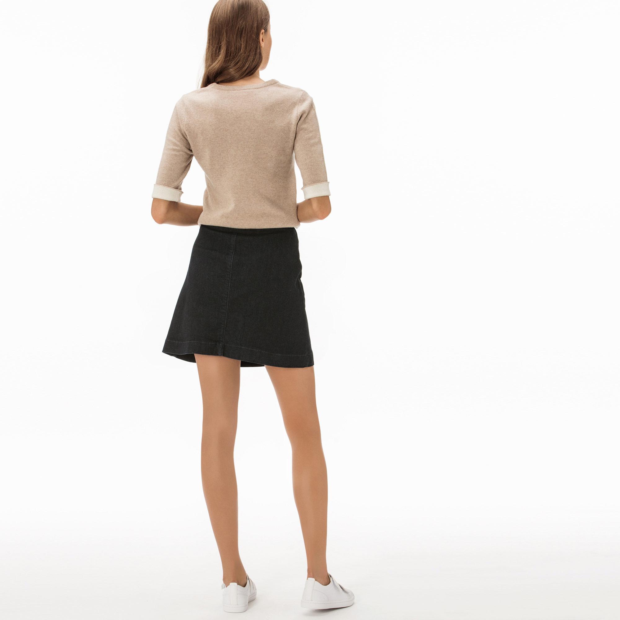 Lacoste Kadın Siyah Denim Mini Etek