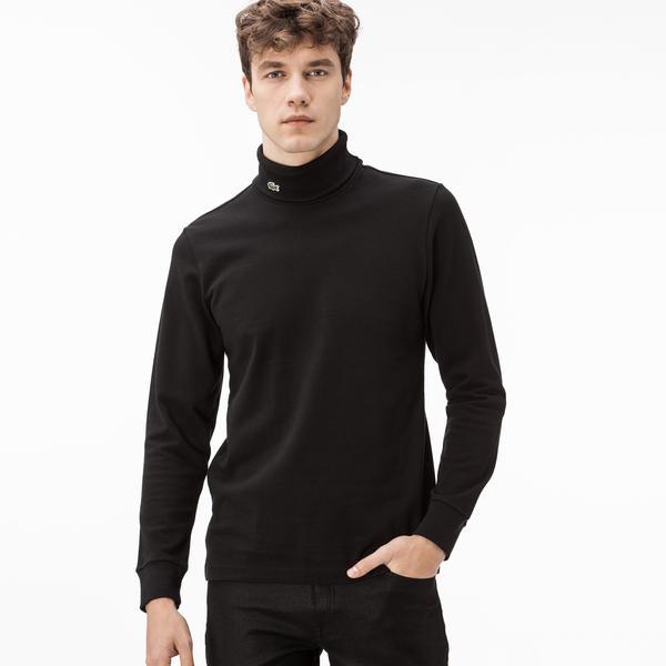 Lacoste Erkek Siyah Uzun Kollu Boğazlı T-Shirt