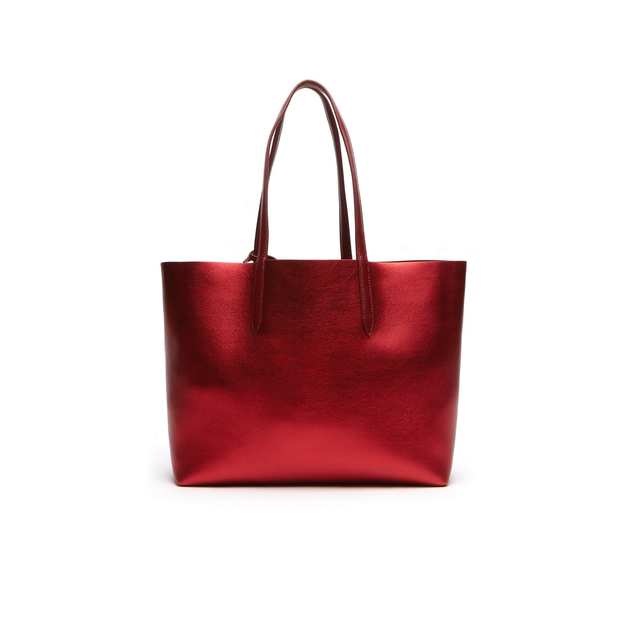 Lacoste Kadın Anna Cuır Kırmızı Kol Çantası