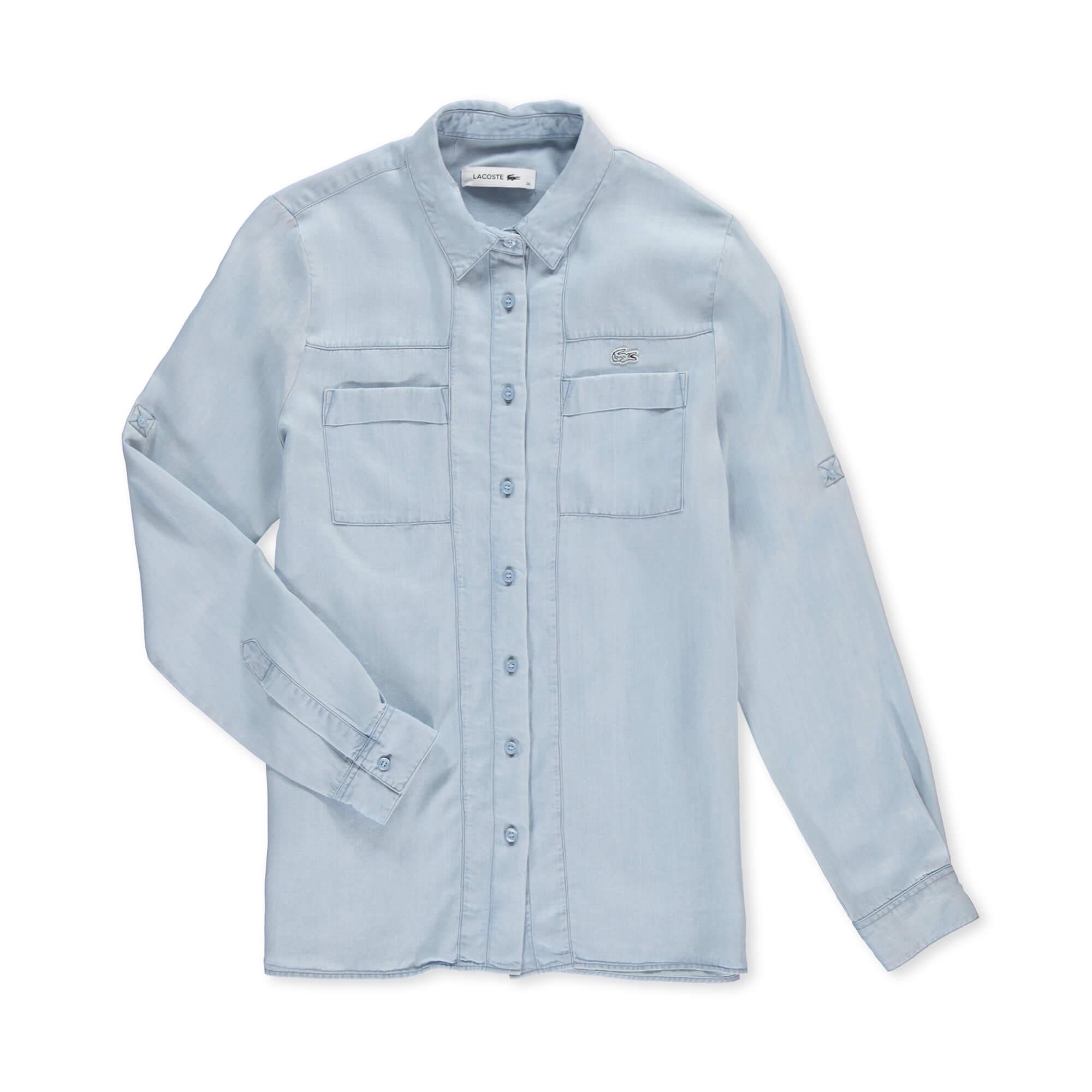 Lacoste Kadın Mavi Gömlek