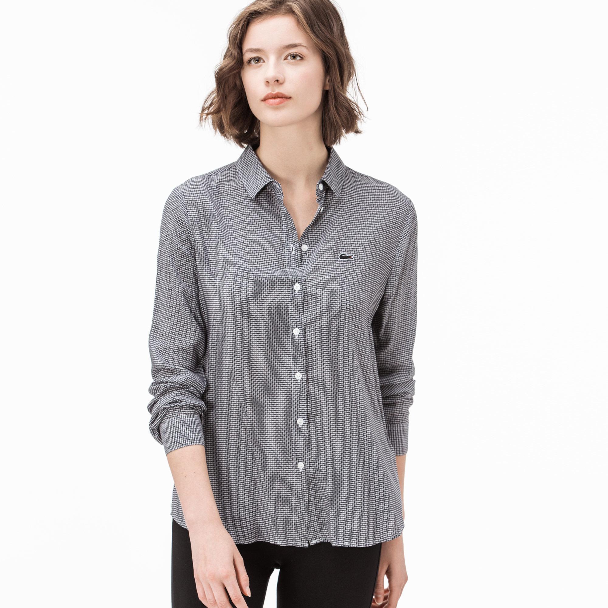 Lacoste Kadın Gri Gömlek