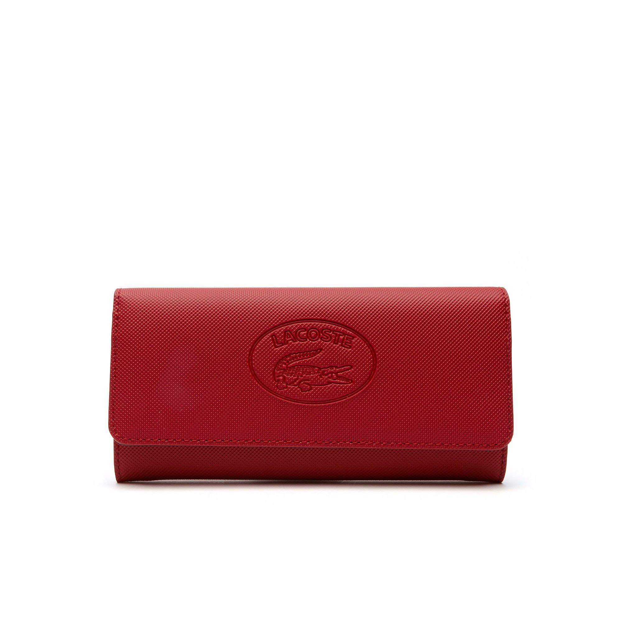 8ff5fa144532d Lacoste Kadın Classic Lacivert-Turuncu Cüzdan