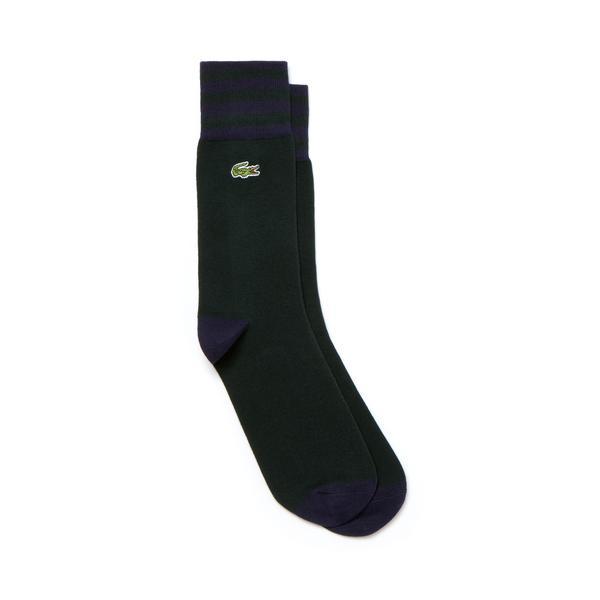Lacoste Unisex Lacivert-Yeşil Çorap
