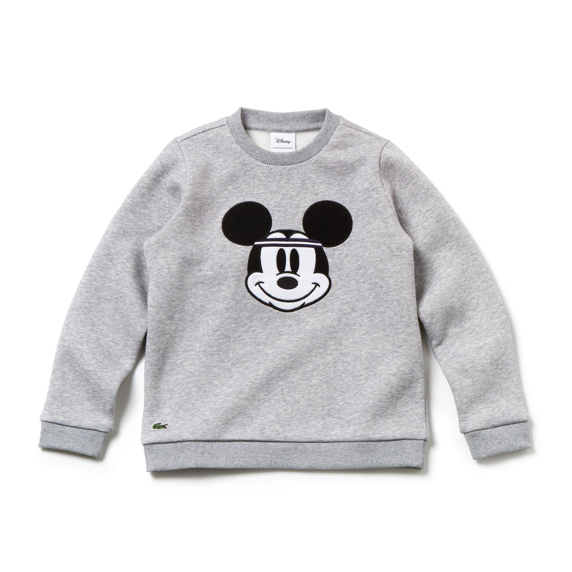 Lacoste X Disney Unisex Çocuk Mickey Baskılı Gri Sweatshirt