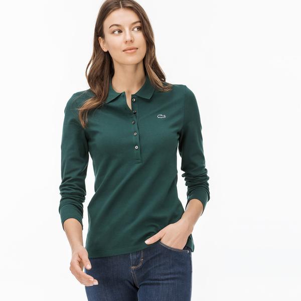 Lacoste Kadın Koyu Yeşil Polo