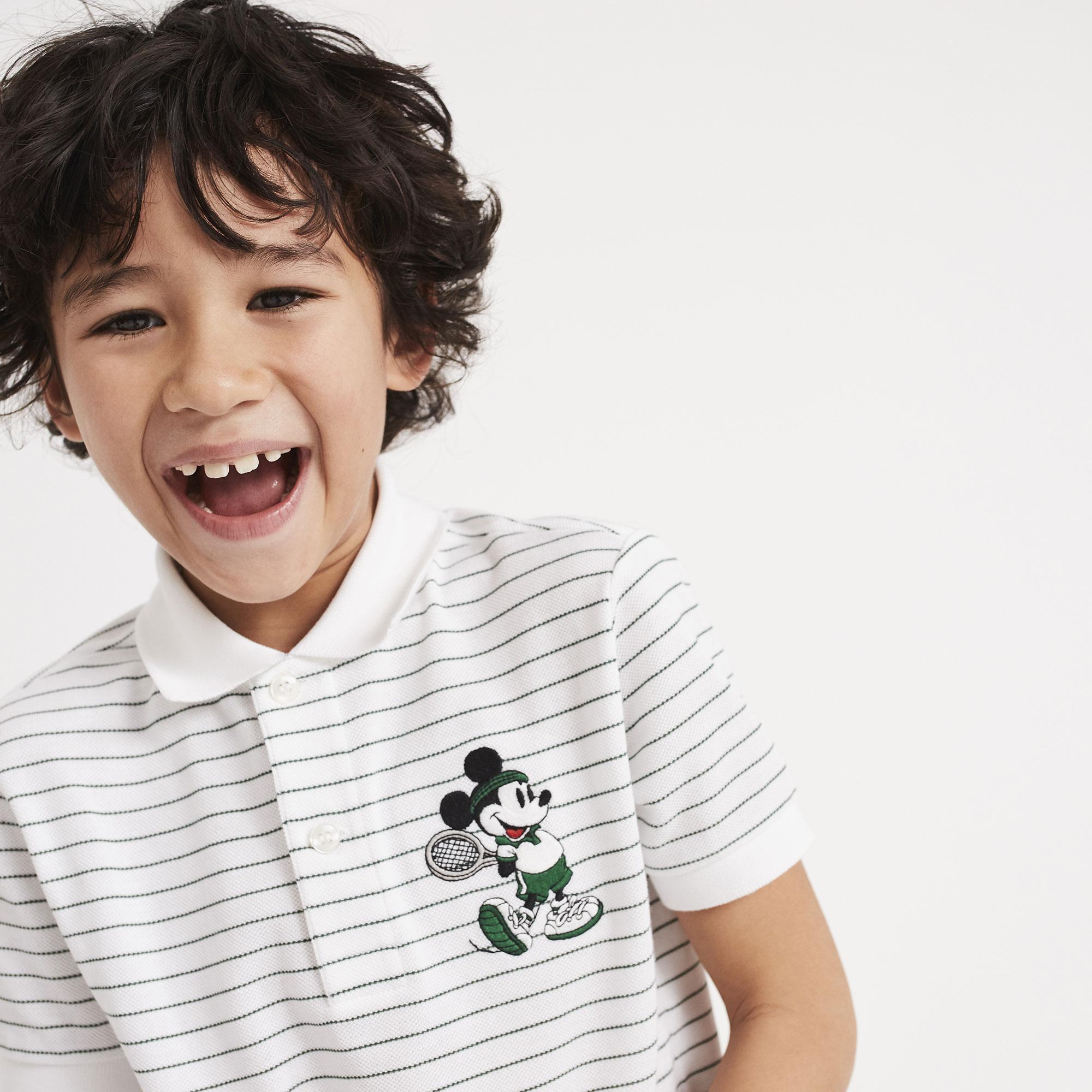 Lacoste Çocuk Beyaz-Yeşil Polo