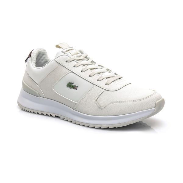 Lacoste Erkek Deri Bej Sneaker