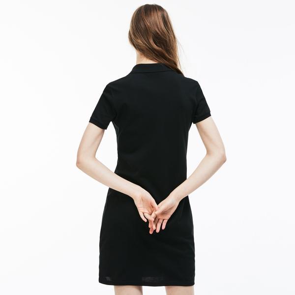 Lacoste Kadın Klasik Siyah Elbise