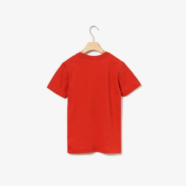 Lacoste Çocuk Timsah Baskılı Kırmızı T-Shirt