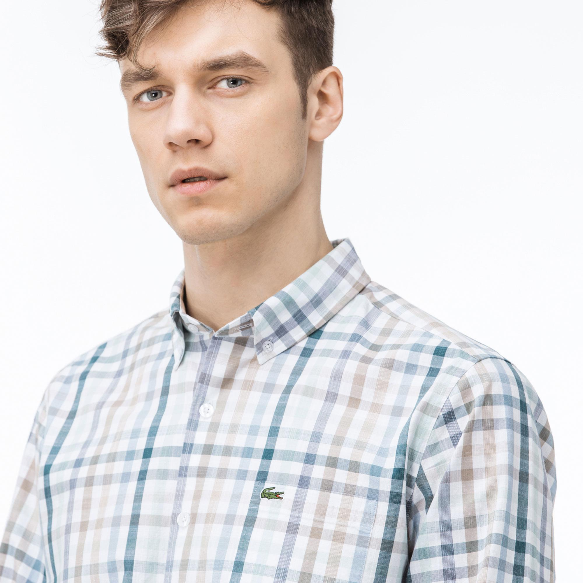 Lacoste Erkek Regular Fit Ekose Gömlek