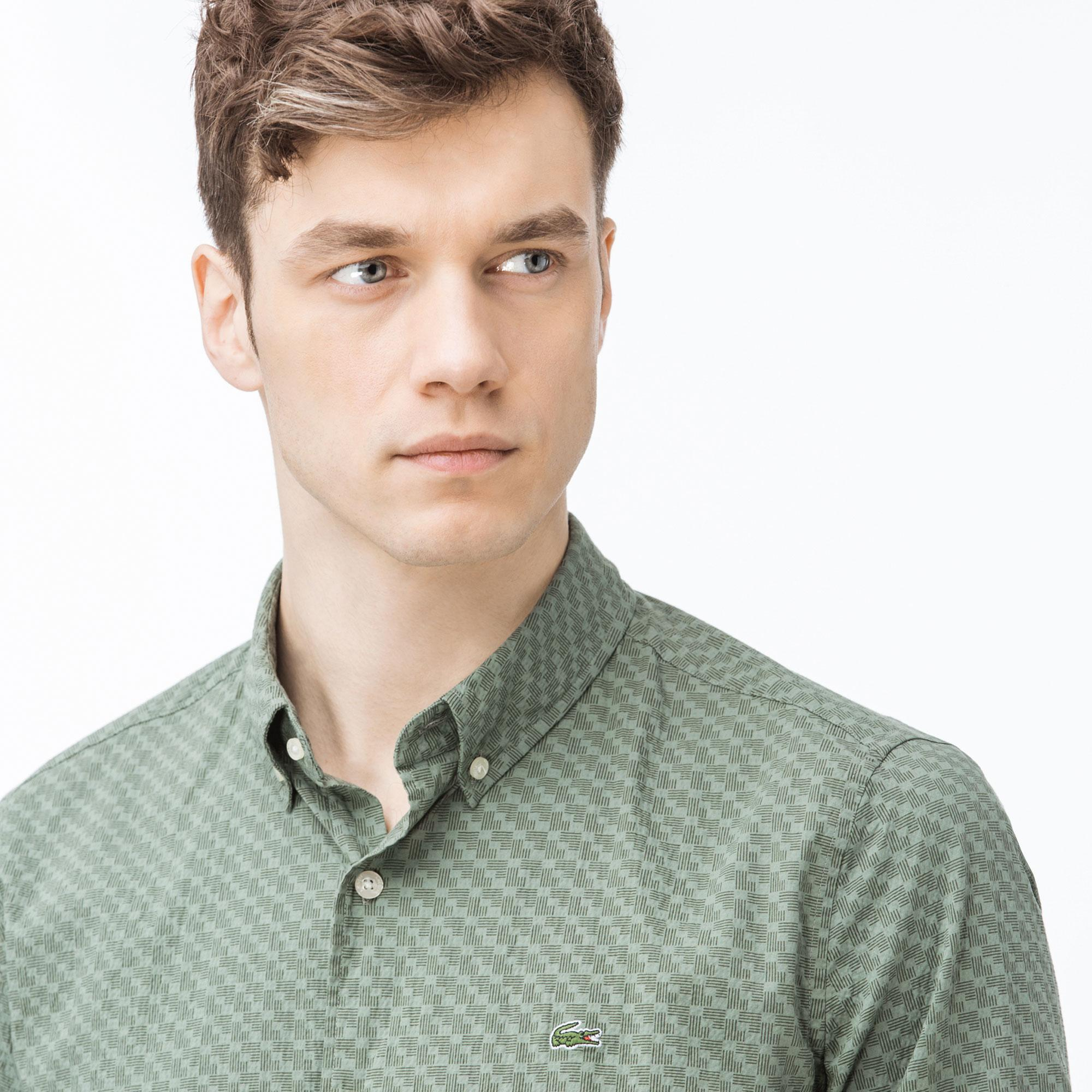 Lacoste Erkek Slim Fit Yeşil Gömlek