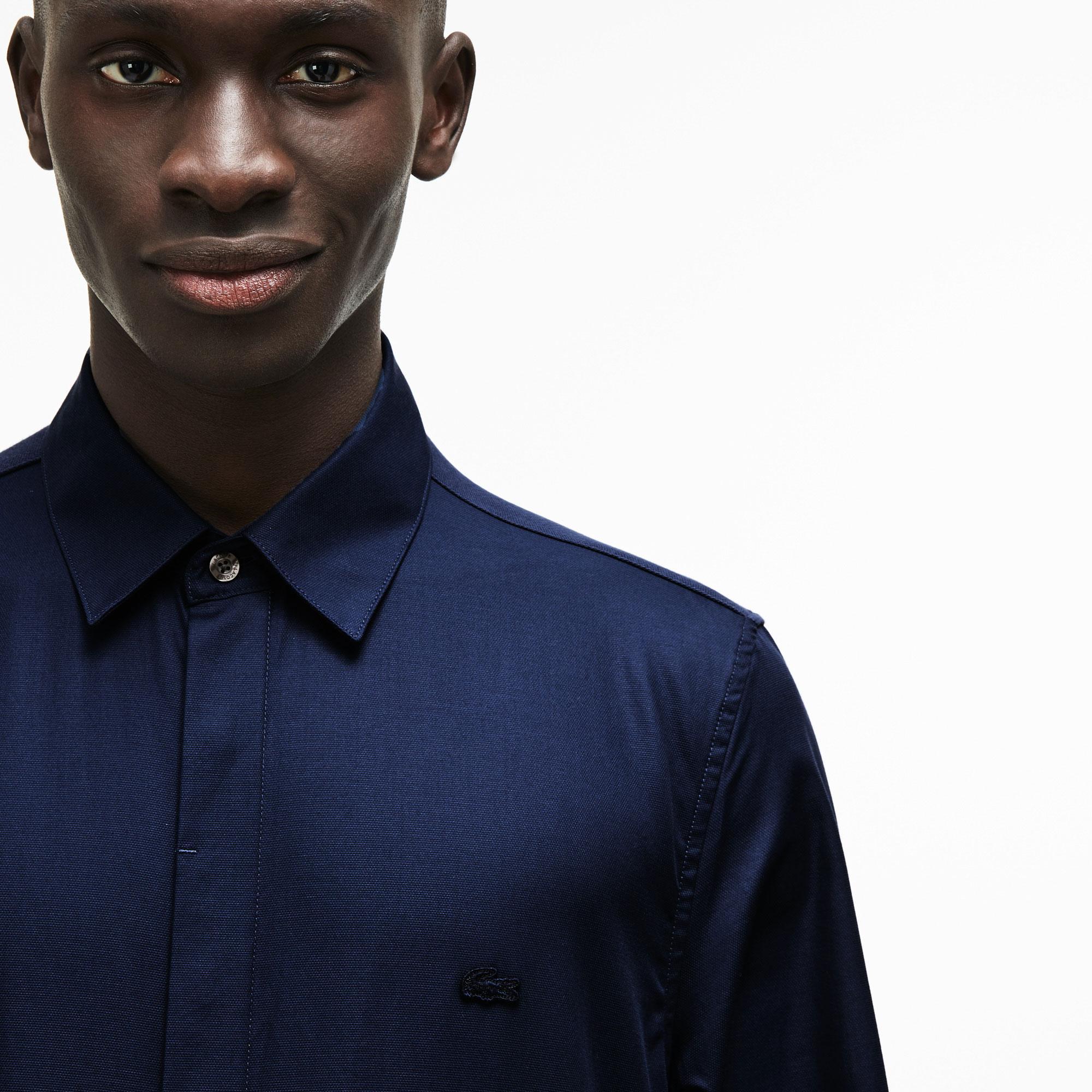 Lacoste Motion Erkek Slim Fit Pike Lacivert Gömlek