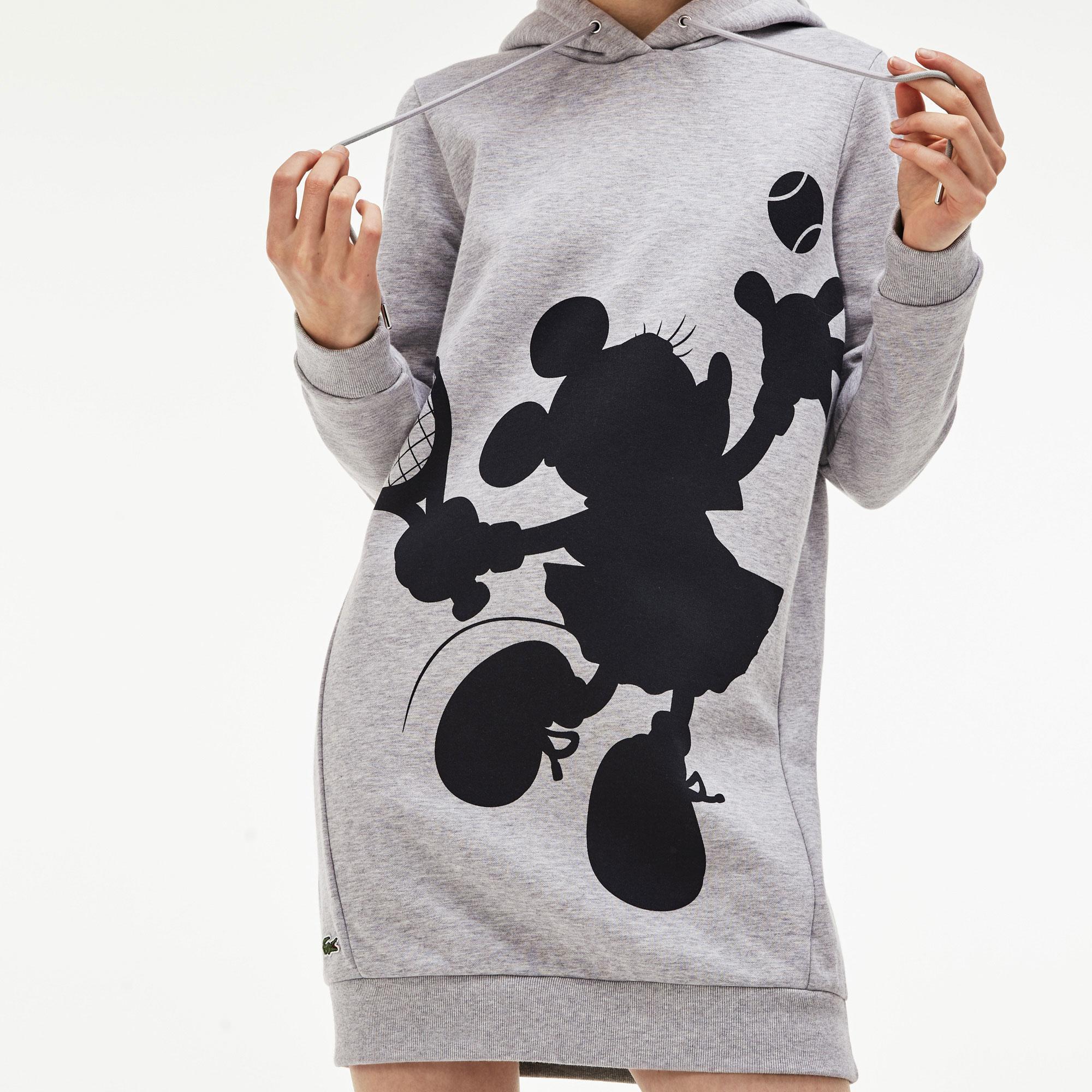 Lacoste X Disney Kadın Kapüşonlu Gri Elbise
