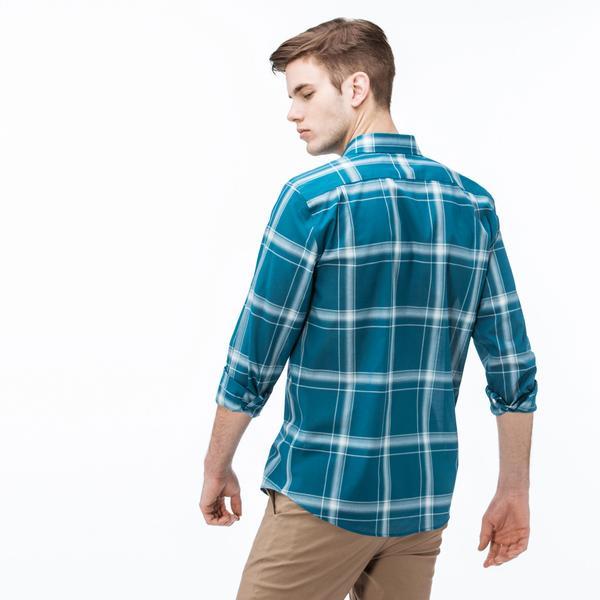 Lacoste Erkek Slim Fit Renkli Ekose Gömlek