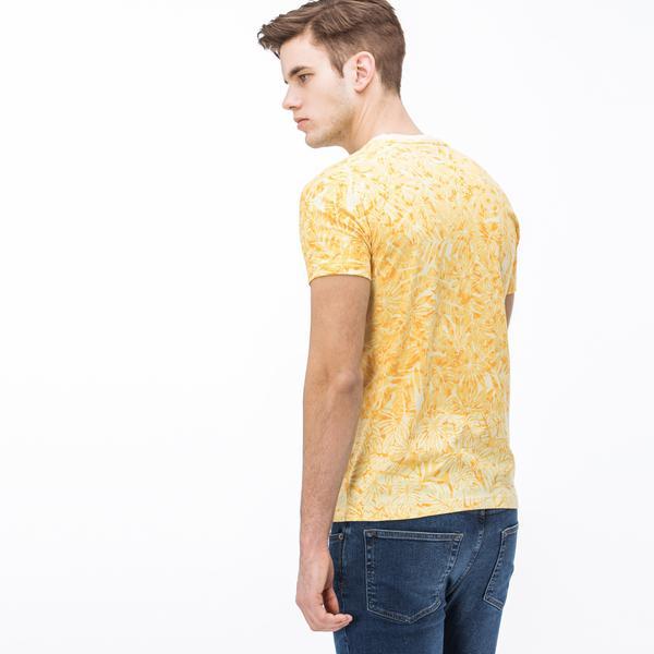 Lacoste Erkek V Yaka Sarı T-Shirt