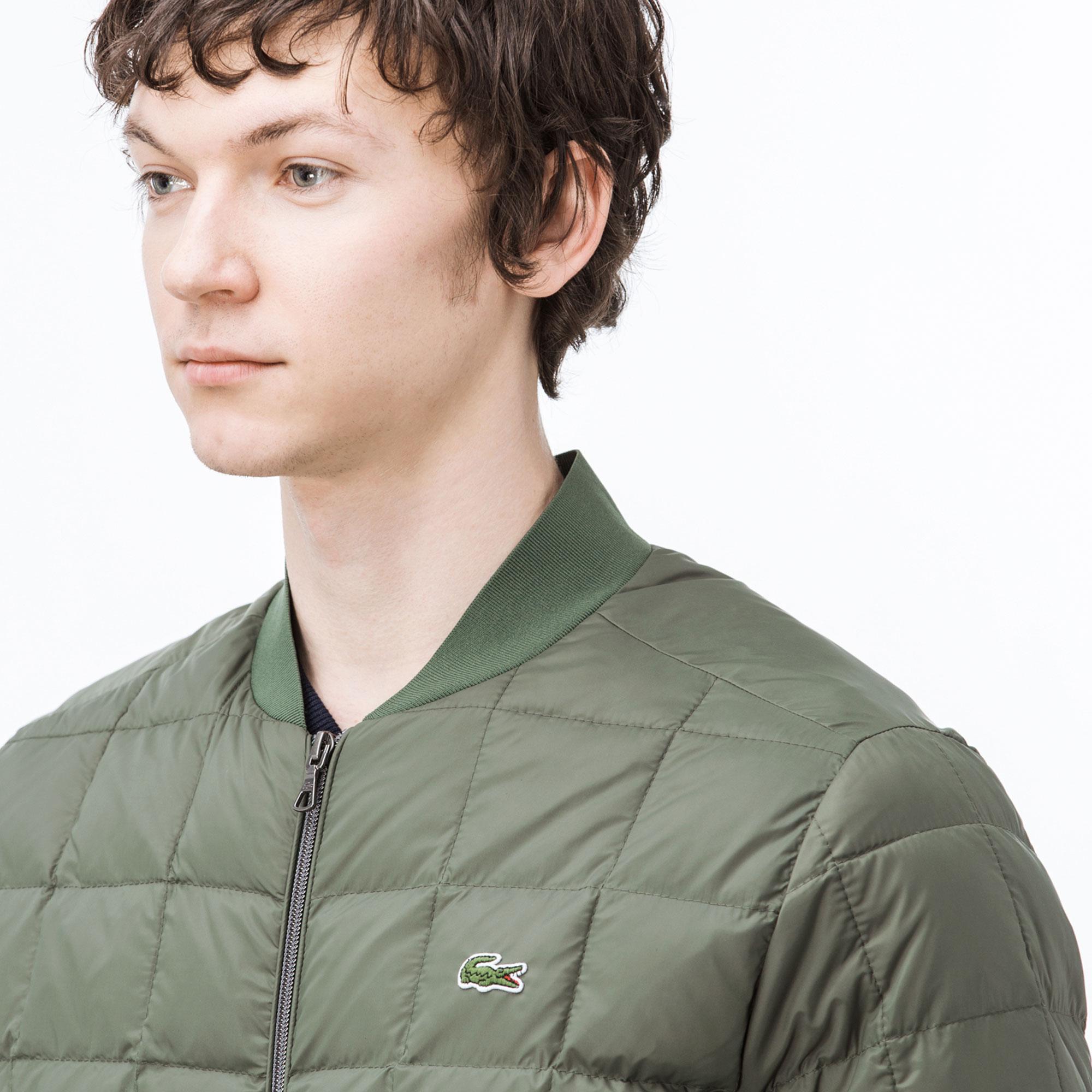 Lacoste Erkek Kapitone Yeşil Bomber Mont