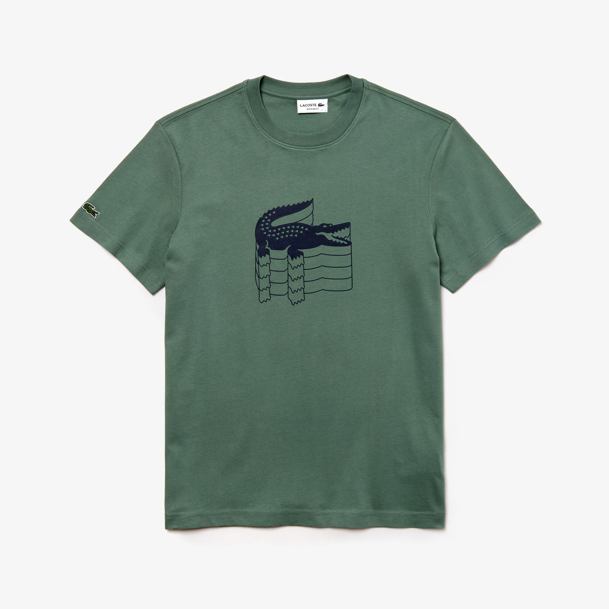 Lacoste Erkek Regular Fit Haki T-Shirt