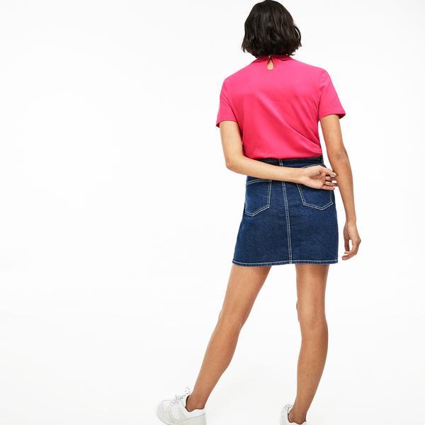 Lacoste L!ve Kadın Slim Fit Pembe Polo