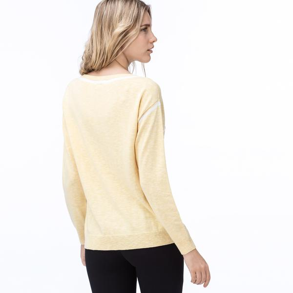Lacoste Kadın Kırçıllı Sarı Triko