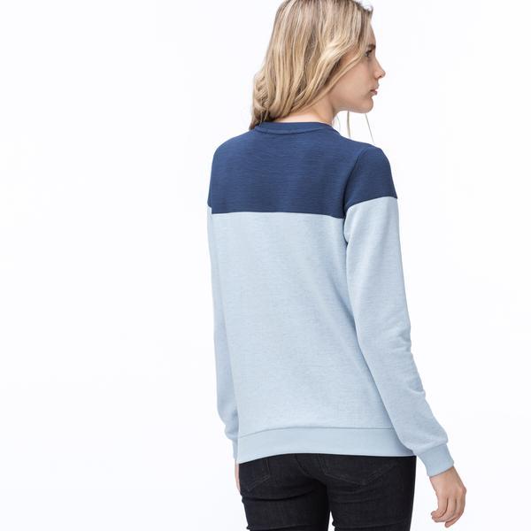 Lacoste Kadın Mavi-Lacivert Lacoste Baskılı Sweatshirt