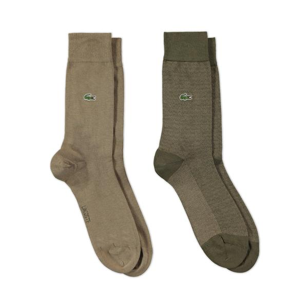 Lacoste Unisex 2'li Kahverengi Çorap