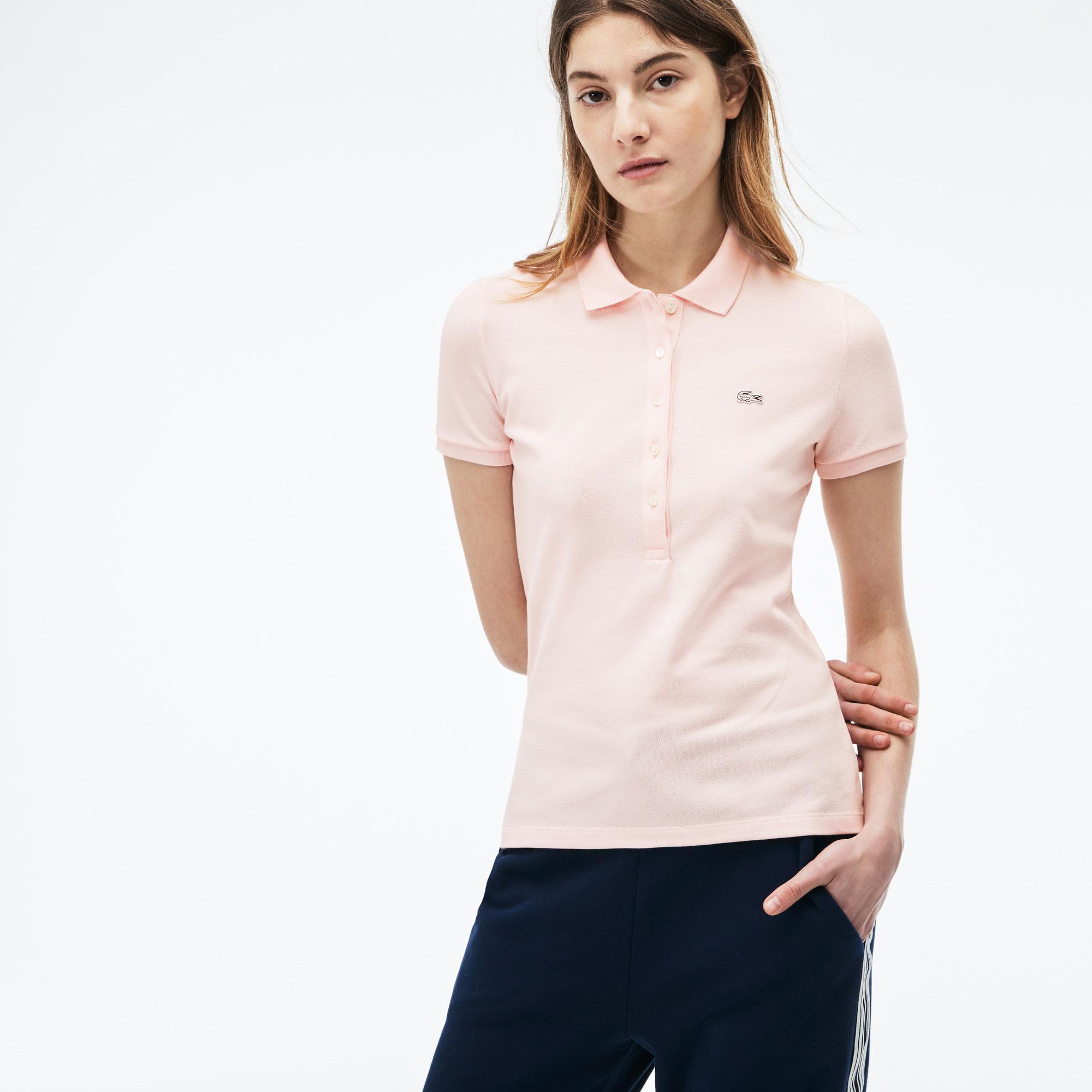 Lacoste Kadın Slim Fit Pembe Polo
