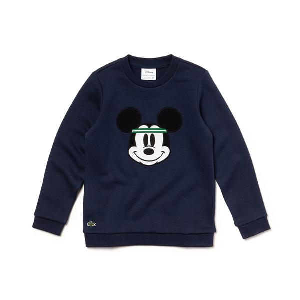 Lacoste X Disney Unisex Çocuk Mickey Baskılı Lacivert Sweatshirt