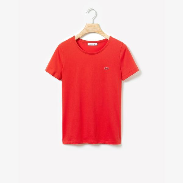 Lacoste Kadın Regular Fit Kırmızı T-Shirt