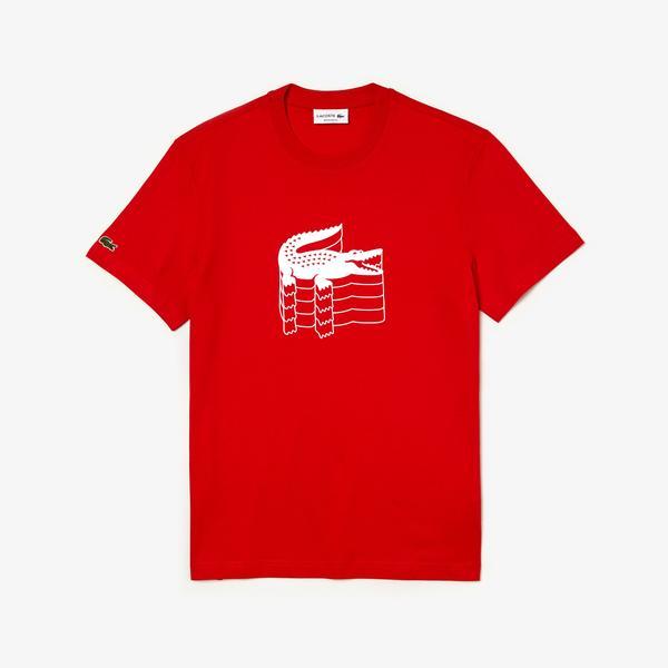 Lacoste Erkek Regular Fit Kırmızı T-Shirt