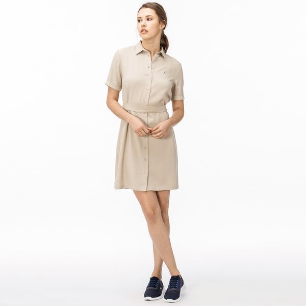 Lacoste Kadın Bej Elbise