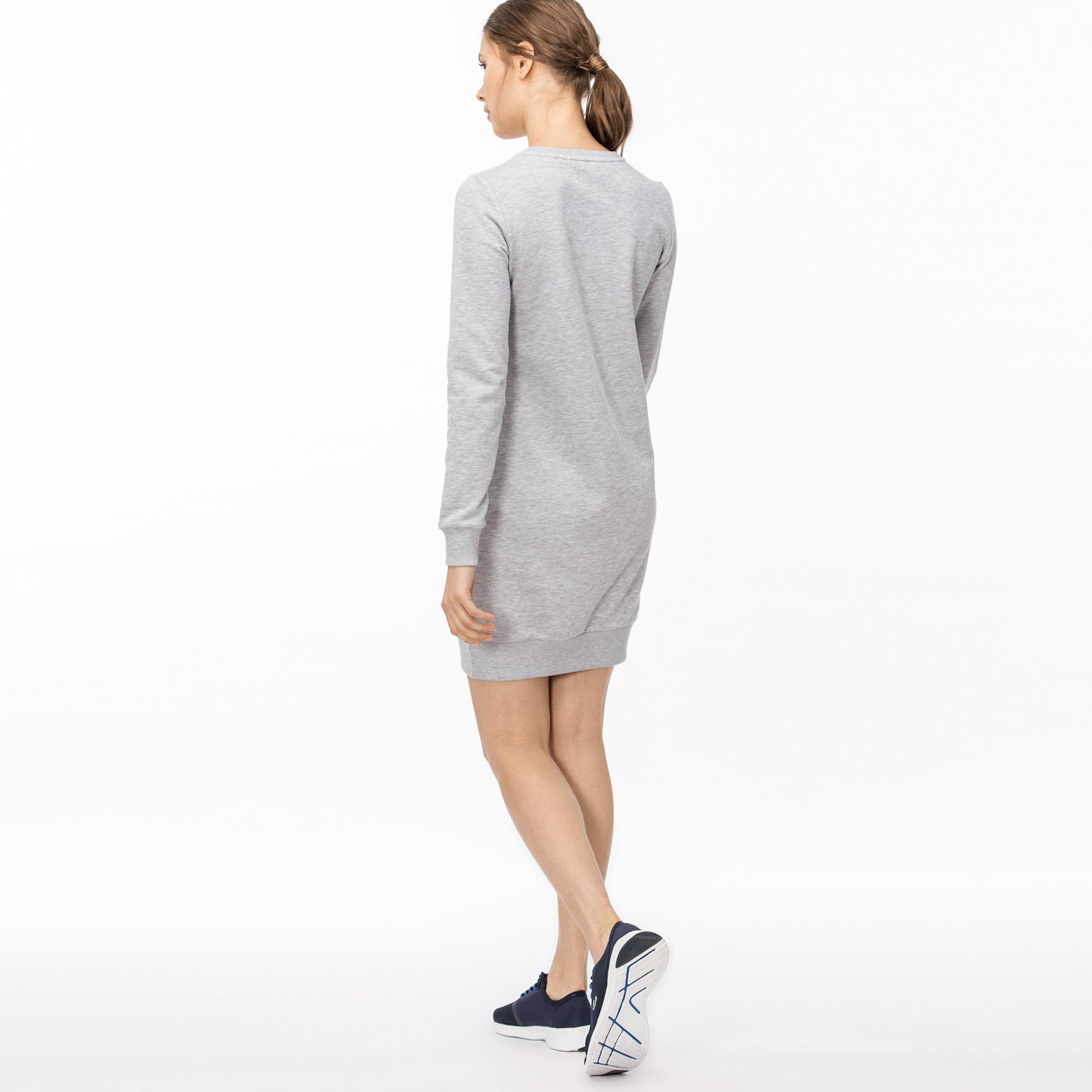 Lacoste Kadın Lacoste Baskılı Gri Elbise