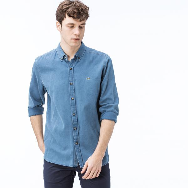 Lacoste Erkek Regular Fit Denim Gömlek